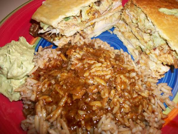 Chicken Mole Sandwich With Mole Rice