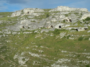 Photo: Cave dwellings on the other side of the ravine.