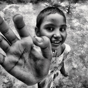 poor child by Jhilam Deb - Babies & Children Hands & Feet ( hand, black & white, children, babies & children, poor child,  )