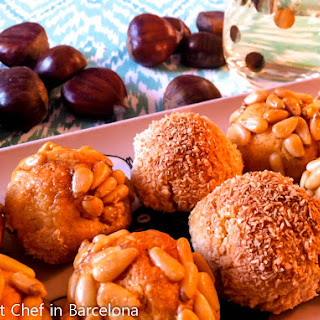 Panellets – Catalan Almond, Sweet Potato and Pine Nut Cookies.