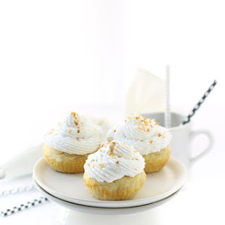 Vanilla Cupcakes with Coconut Cream Frosting