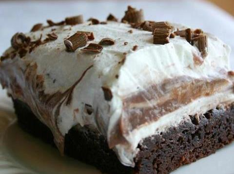 Brownie Refrigerator Cake Recipe