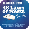 Summary of 48 laws of Power must read book icon