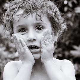 Shock by Phil Milmine - Babies & Children Children Candids ( london, beautiful, summer, boy, swimming )