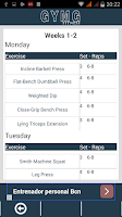 Screenshot of GYMG FITNESS & WORKOUT