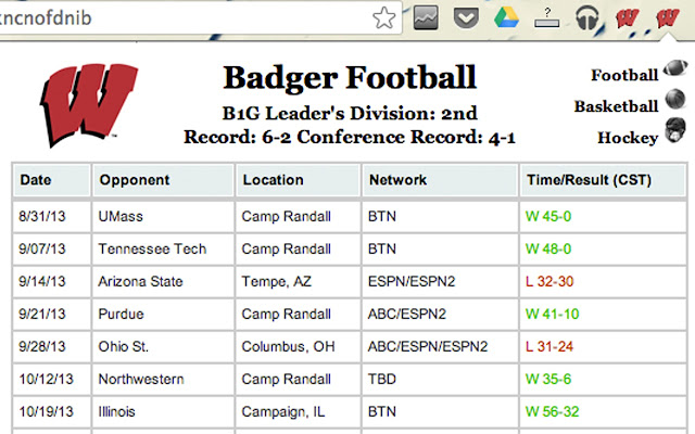 WI Badgers Football & Basketball Schedule