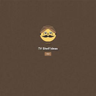 Nápad televizní police - náhled
