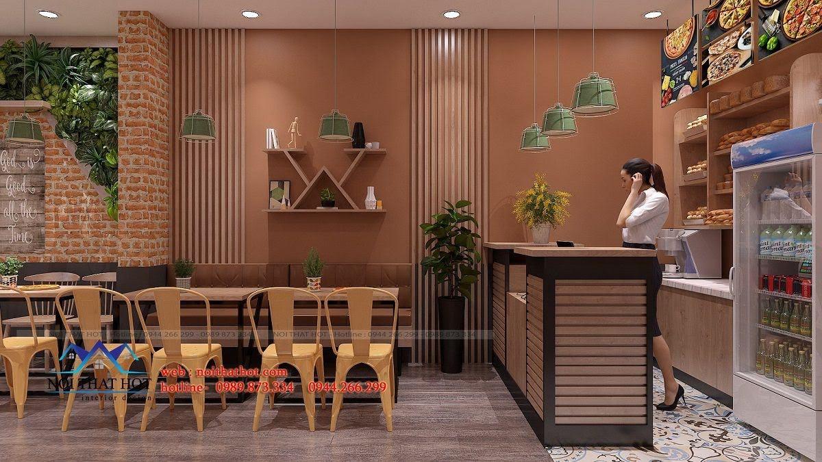 thiết kế cửa hàng pizza bau's 10