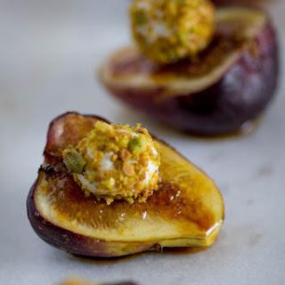 Fig, Pistachio and Honey Goat Cheese Bites
