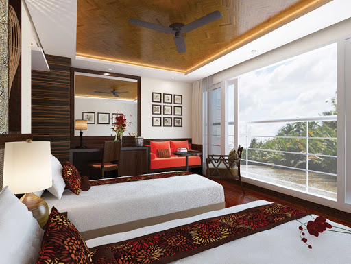 The comfort of the Panorama Suite is welcoming after a day of visiting towns on the Mekong River in Vietnam.