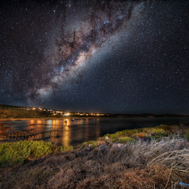 Southern Stars by Greg Tennant - Landscapes Starscapes ( stars, seascape, milky way,  )