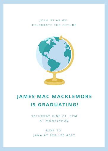 Mac's Graduation Party - Graduation Announcement Template