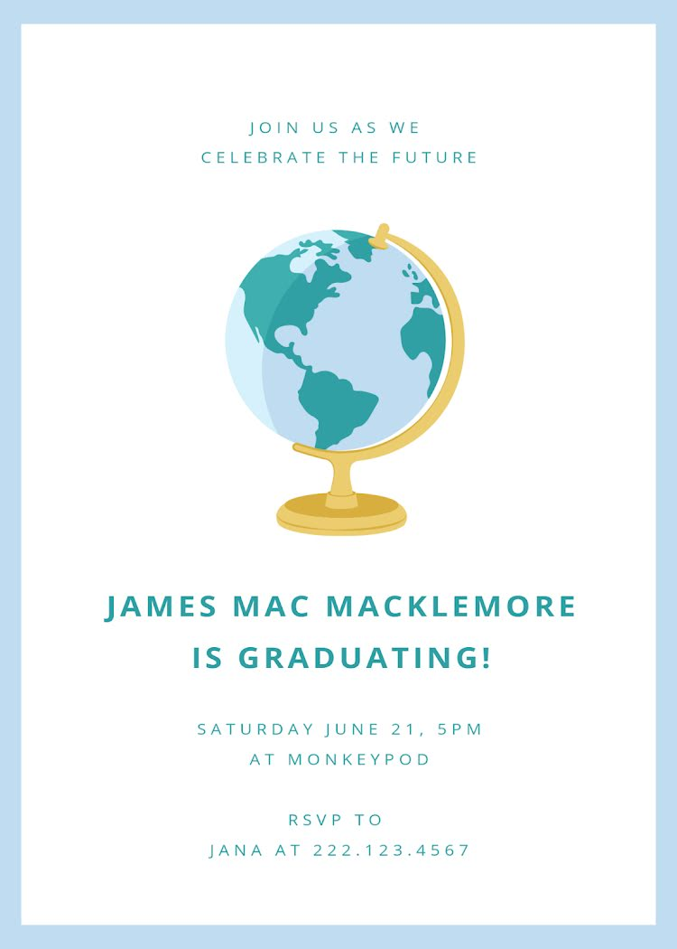 Mac's Graduation Party - Graduation Announcement Template