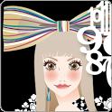 おしゃれでかわいい女の子ライブ壁紙2(時計)1日無料版 icon