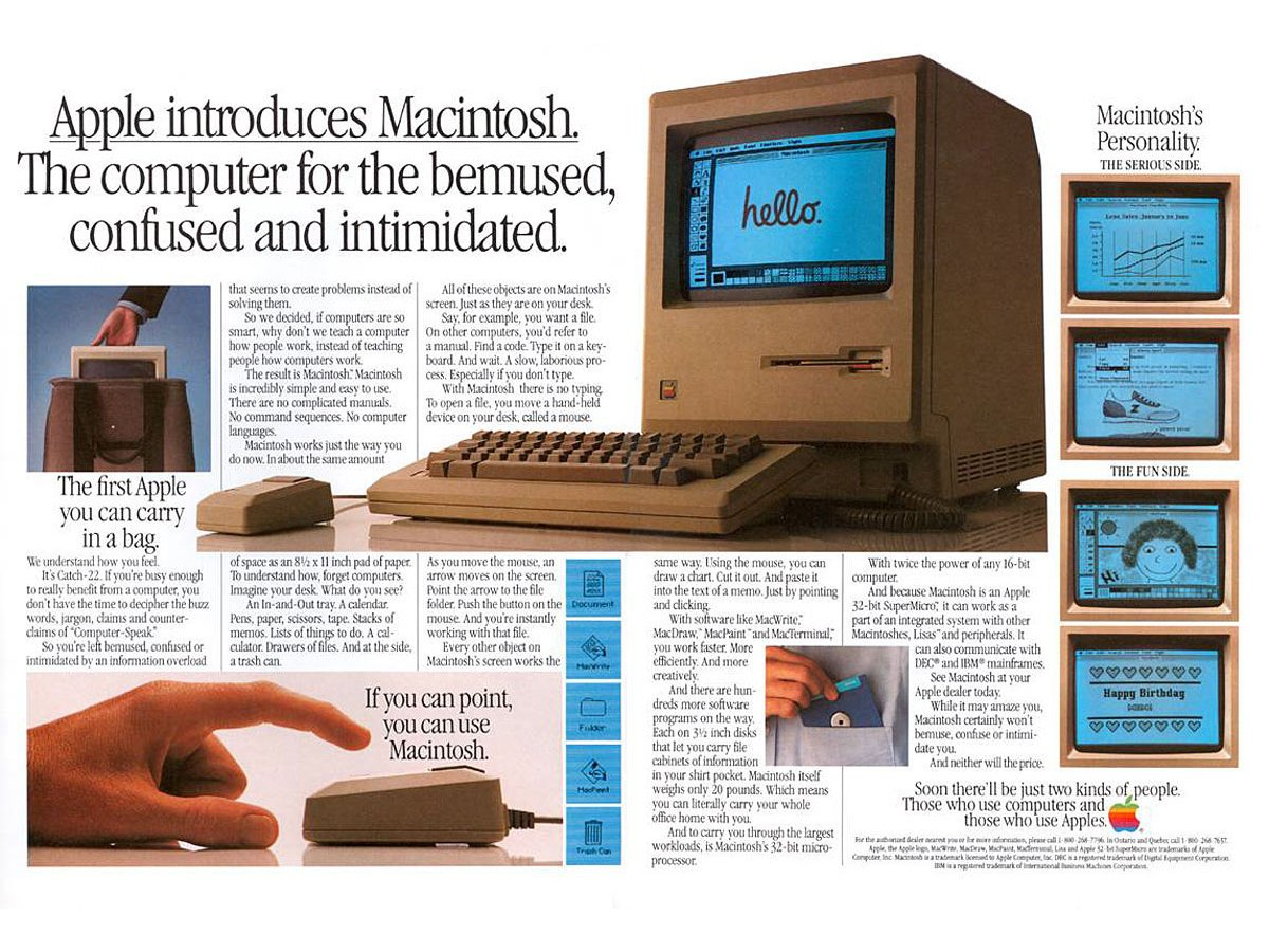A lot of Apple's marketing used to focus on people who hadn't realized the potential of computers yet, or who thought they were too difficult to use.