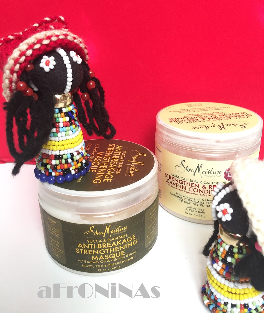 Cabello afro, Mascarilla Cabello, Shea Moisture Yucca and Plantain Anti-breakage Strengthening masque
