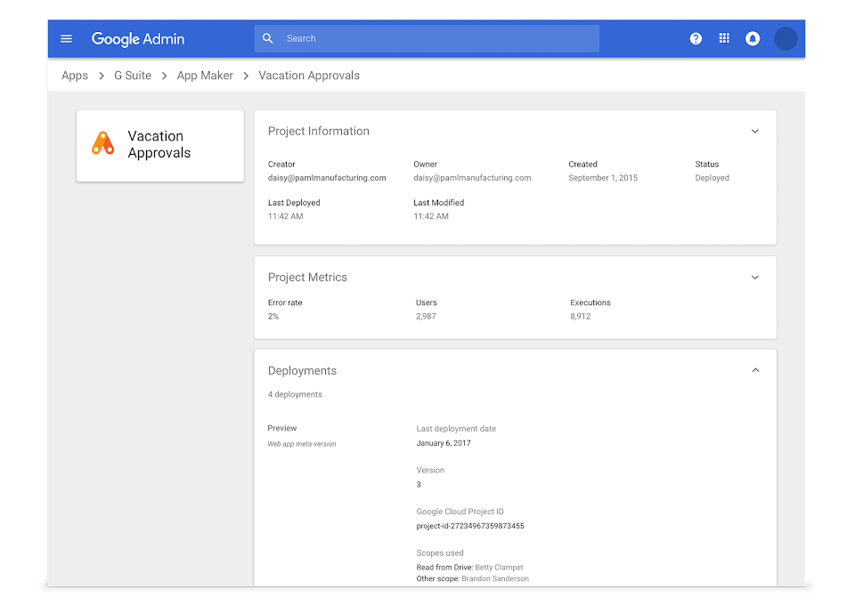 Google App Maker: Custom Apps for Your Business | G Suite