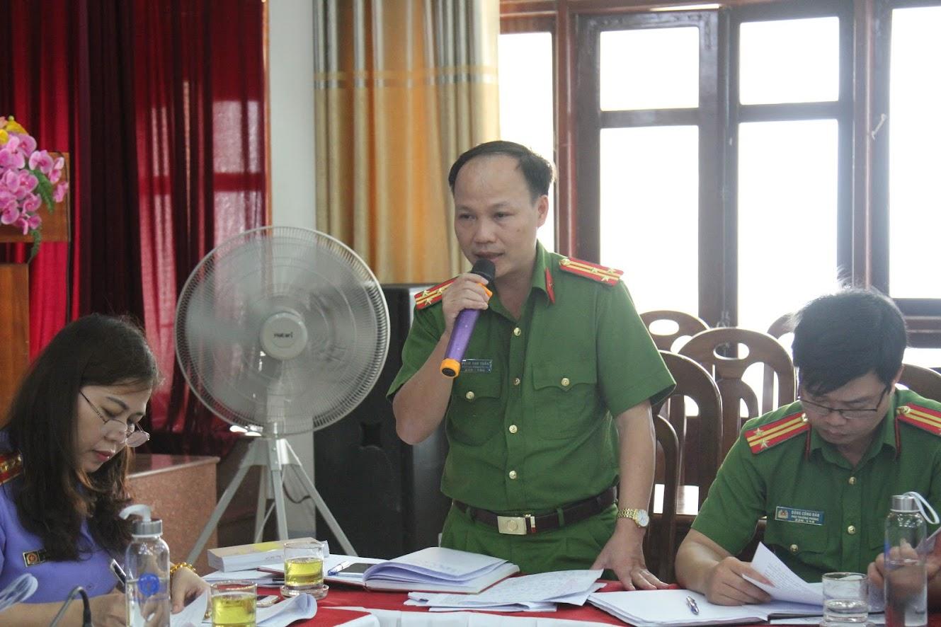 Lãnh đạo Phòng Cảnh sát Kinh tế  Công an tỉnh đóng góp ý kiến triển khai Nghị quyết 05
