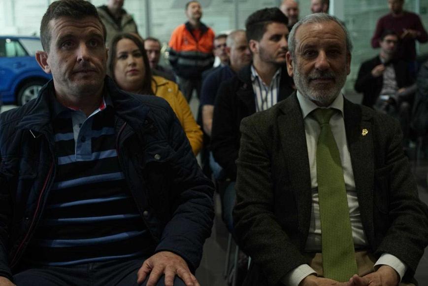 Jesús García concejal de Pechina y Félix López alcalde de Vera.