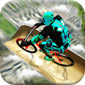 Mega Ramp BMX Tricks: Superhero Bicycle Race Game