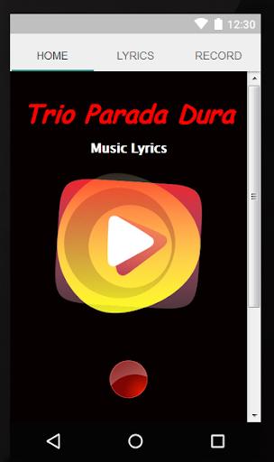Letras Trio Parada Dura
