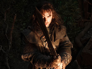 Photo: Kili with a sword, rather than a bow!