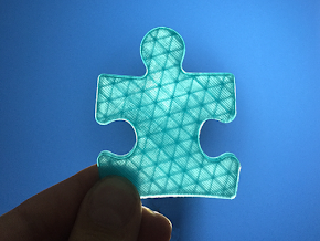 Autism Awareness Puzzle Piece - Light it up blue