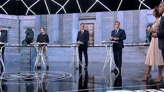 Los candidatos y los presentadores, en Atresmedia.