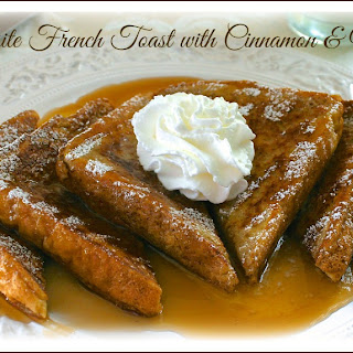 Exquisite French Toast with Cinnamon & Nutmeg.