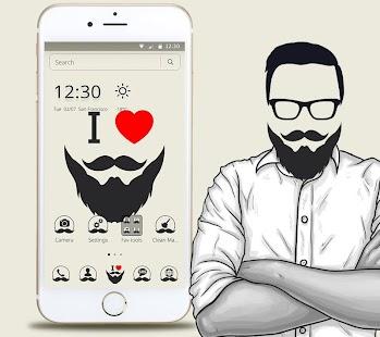 I Love Beard Theme - náhled