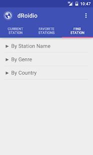 dRoidio Internet Radio Online - náhled