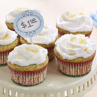 Lemon Poppy Seed Cupcakes.