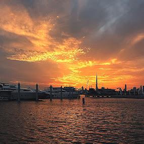 Blazing Sunset by Emmanuel del Rosario - Landscapes Sunsets & Sunrises