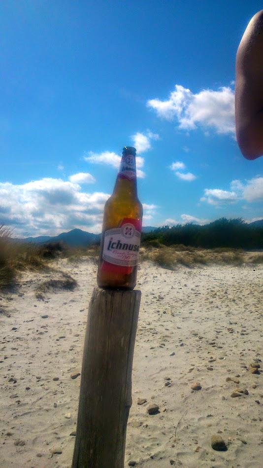 Пиво Ичнуза. На Пляже