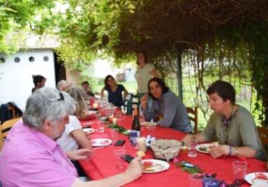 Déjeuner estival avec Thierry Caens à L'Arche à Dijon.