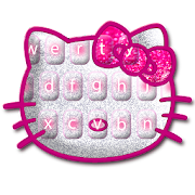 Free Download Cute Pink Kittie Keyboard Theme APK for Samsung