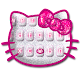 Hot Pink Kittie Hello Keyboard apk