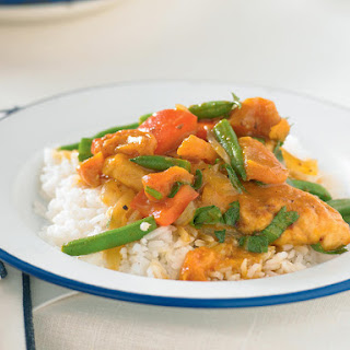 Apricot Chicken with Rice.