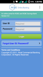 RCBC Online Banking - náhled