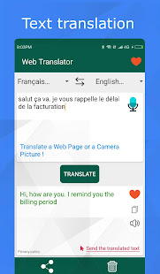 Translator for text, web pages & photos. 100% free