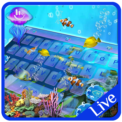 Live 3D Aquarium Keyboard Theme Android APK Download Free By VamosApps