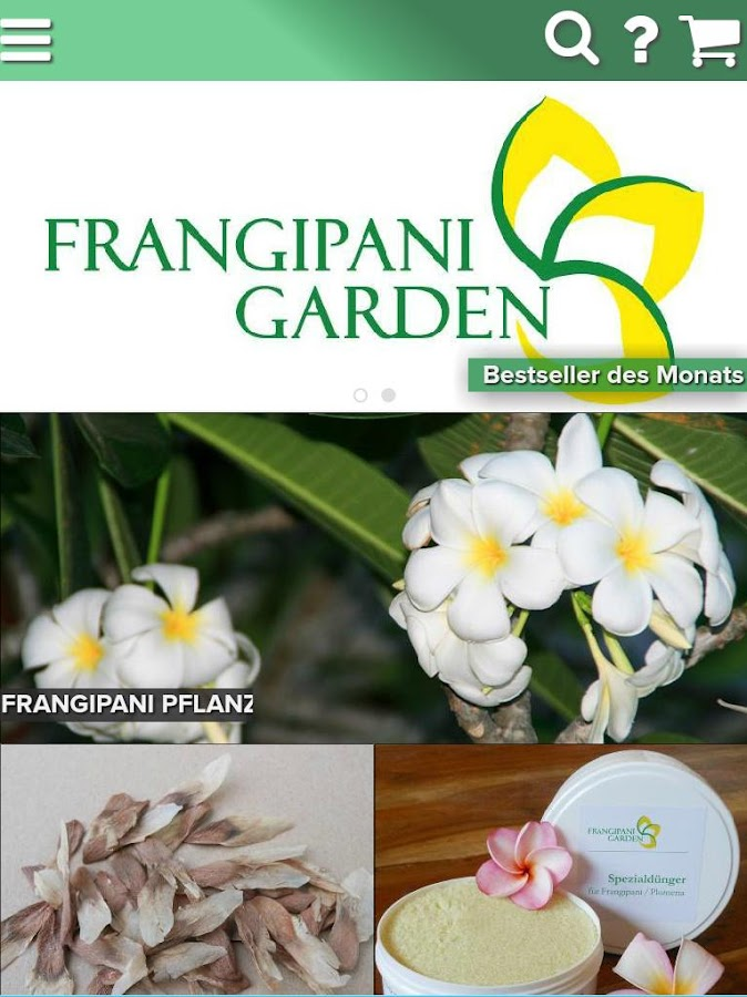 Frangipani Garden Shop- screenshot