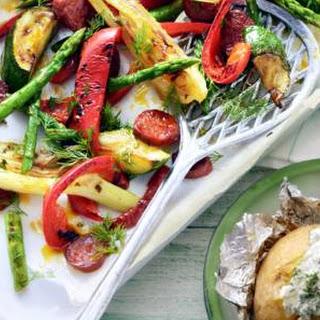 Geroosterde Lentegroenten Met Chorizo