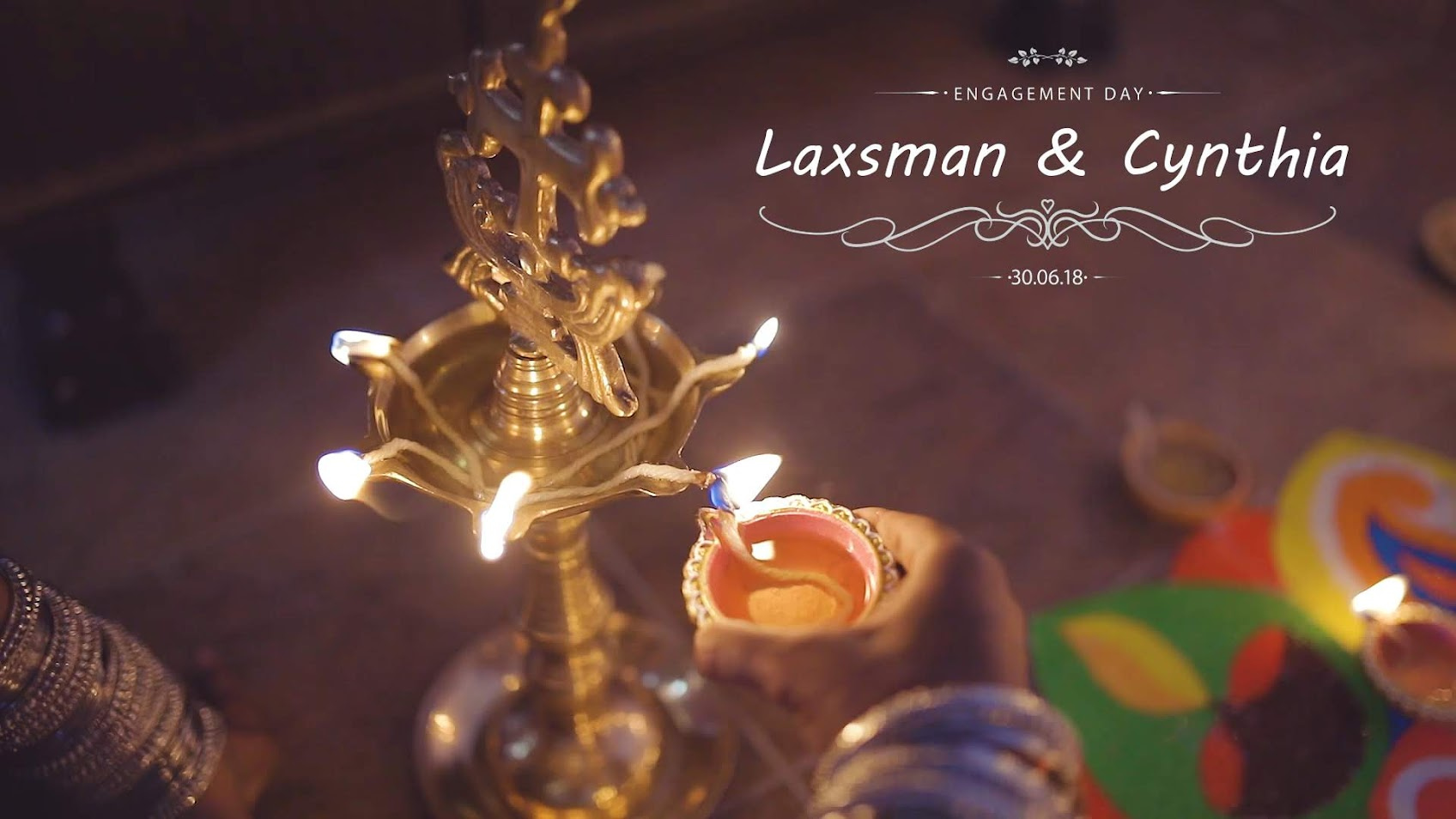 Laxsman & Cynthia Indian wedding temple cinematography at Penag