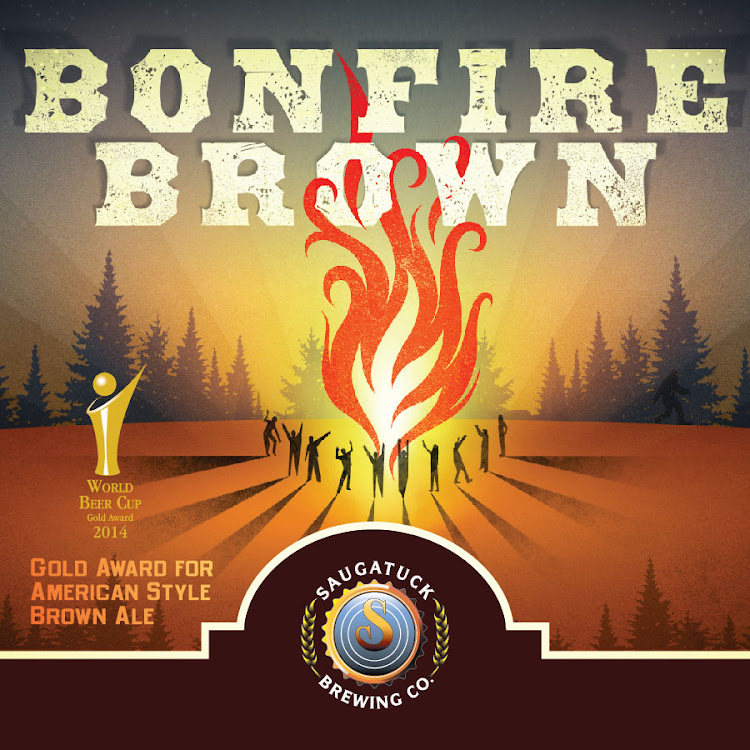 Logo of Saugatuck Bonfire Brown