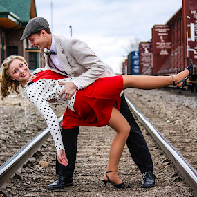 A Dance on the Tracks by Vanessa Meyers - People Couples ( railroad, outdoors, theme, dance, couples,  )