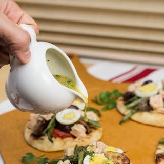 Grilled Niçoise Salad Flatbreads.