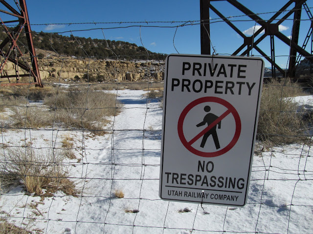 Private Property sign that went ignored