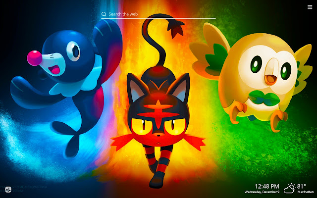 Pokemon Sun & Moon Wallpapers New Tab Theme