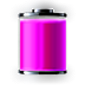 Pink Battery icon